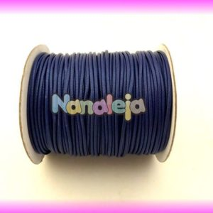 Algodón encerado 2mm azul marino