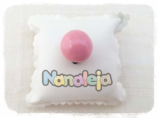 Bola de cerámica rosa para pulsera Cádiz (intercambiable)