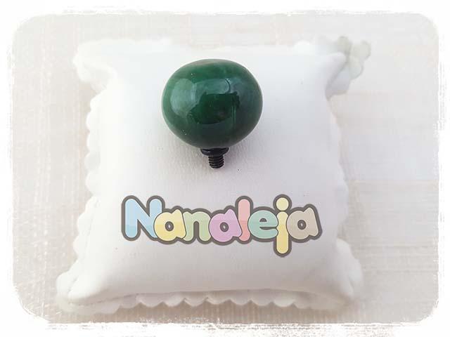 Bola de cerámica verde botella para pulsera Cádiz (intercambiable)