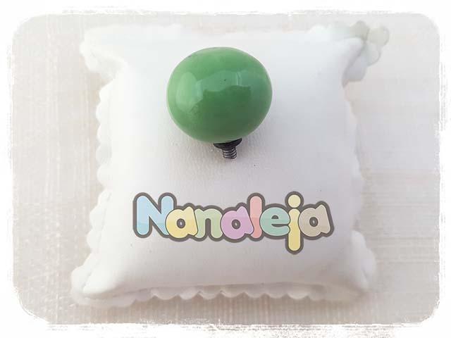 Bola de cerámica verde para pulsera Cádiz (intercambiable)