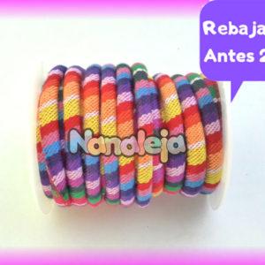 Cordón étnico redondo multicolor (precio por metro)
