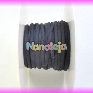 Cordón espaguetti elástico negro (precio por metro)