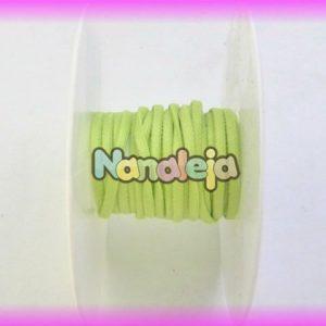 Cordón espaguetti elástico verde lima (precio por metro)