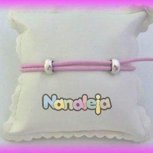 Cuero redondo 2mm nacional rosa bebé (precio por metro)