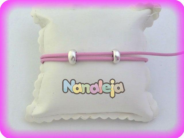 Cuero redondo 2mm nacional rosa chicle (precio por metro)