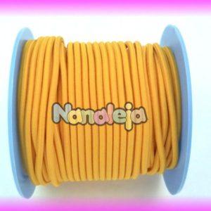 Goma elástica 2,5mm amarillo (precio por metro)