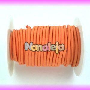 Goma elástica 2,5mm naranja (precio por metro)