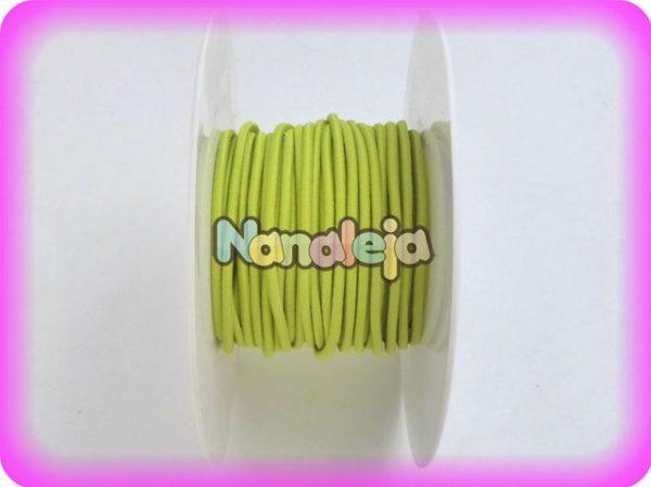 Goma elástica redonda 2mm verde lima (precio del metro)