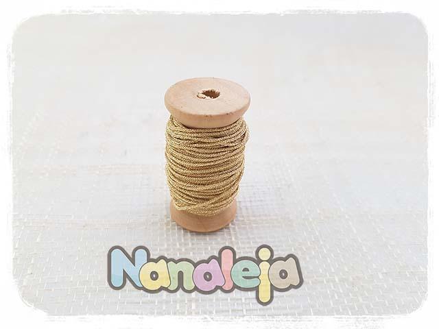 Hilo de seda japonesa dorada 1mm (precio por metro)