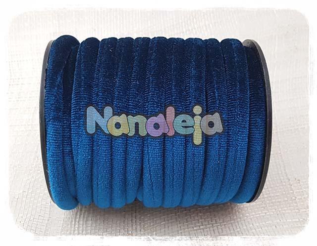 Cordón de terciopelo redondo azul oscuro (precio por metro)