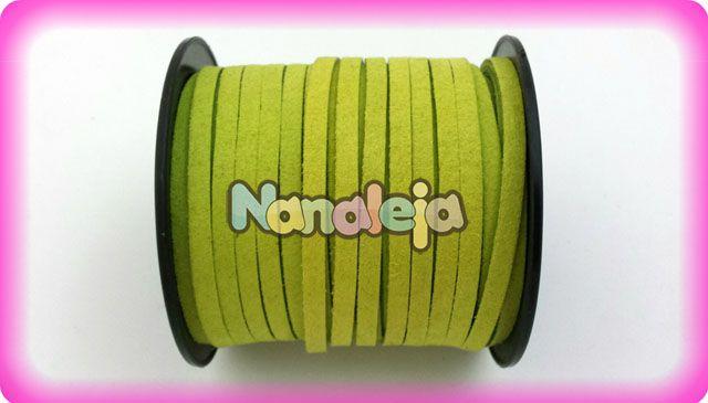 Antelina 5mm verde pistacho (precio por metro)