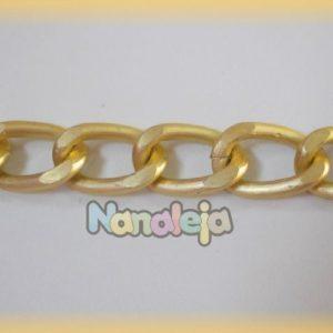 Cadena de aluminio dorado mate (precio por trozo de 50cm)