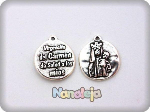 Colgante medalla Virgen del Carmen zamak (24X21mm)