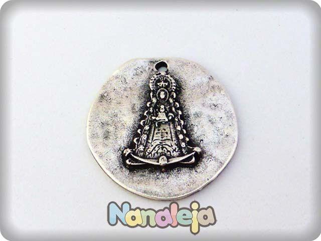 Colgante medalla Virgen del Rocio zamak 39mm