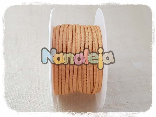 Cordón espaguetti elástico arena (precio por metro)