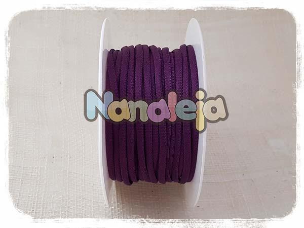 Cordón espaguetti elástico berenjena (precio por metro)