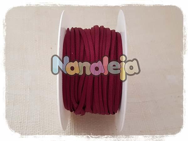 Cordón espaghetti elástico burdeos (precio por metro)