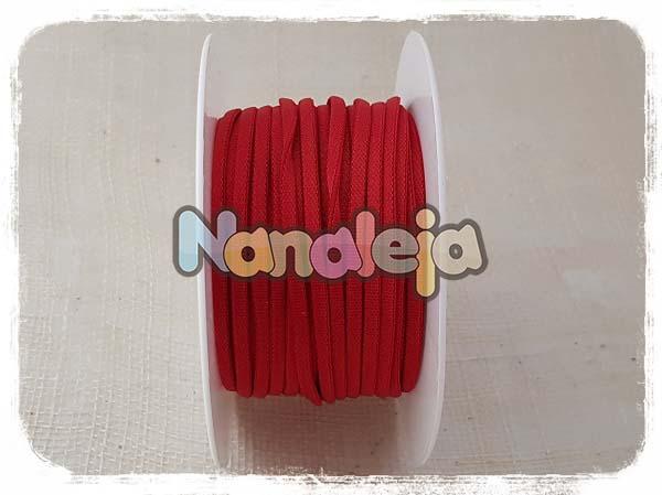 Cordón espaguetti elástico rojo (precio por metro)