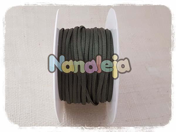 Cordón espaguetti elástico verde oscuro (precio por metro)