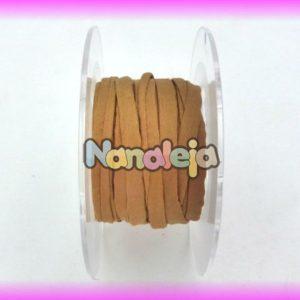 Seda natural cosida 5mm marrón claro (precio por cm)