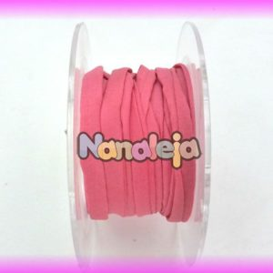 Seda natural cosida 5mm rosa (precio por cm)